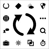 reboot sign icon. web icons universal set for web and mobile
