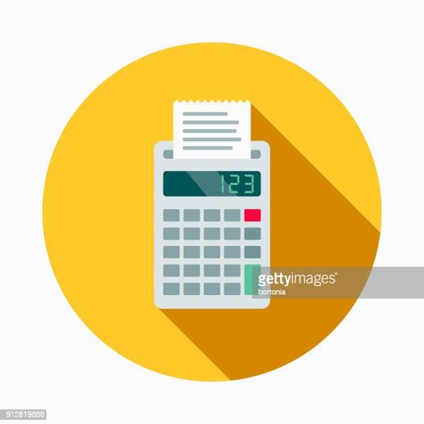 receipt printer flat design e-commerce icon - accountancy stock illustrations, clip art, cartoons, & icons