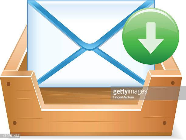 receive mail - outbox filing tray stock illustrations