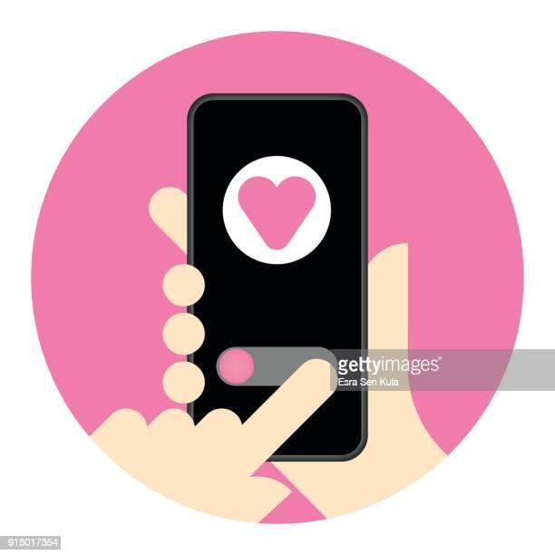 Receiving date invitation on smart phone screen