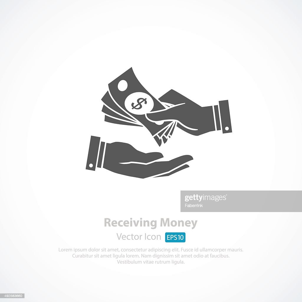 Receiving Money stock vector - Getty Images