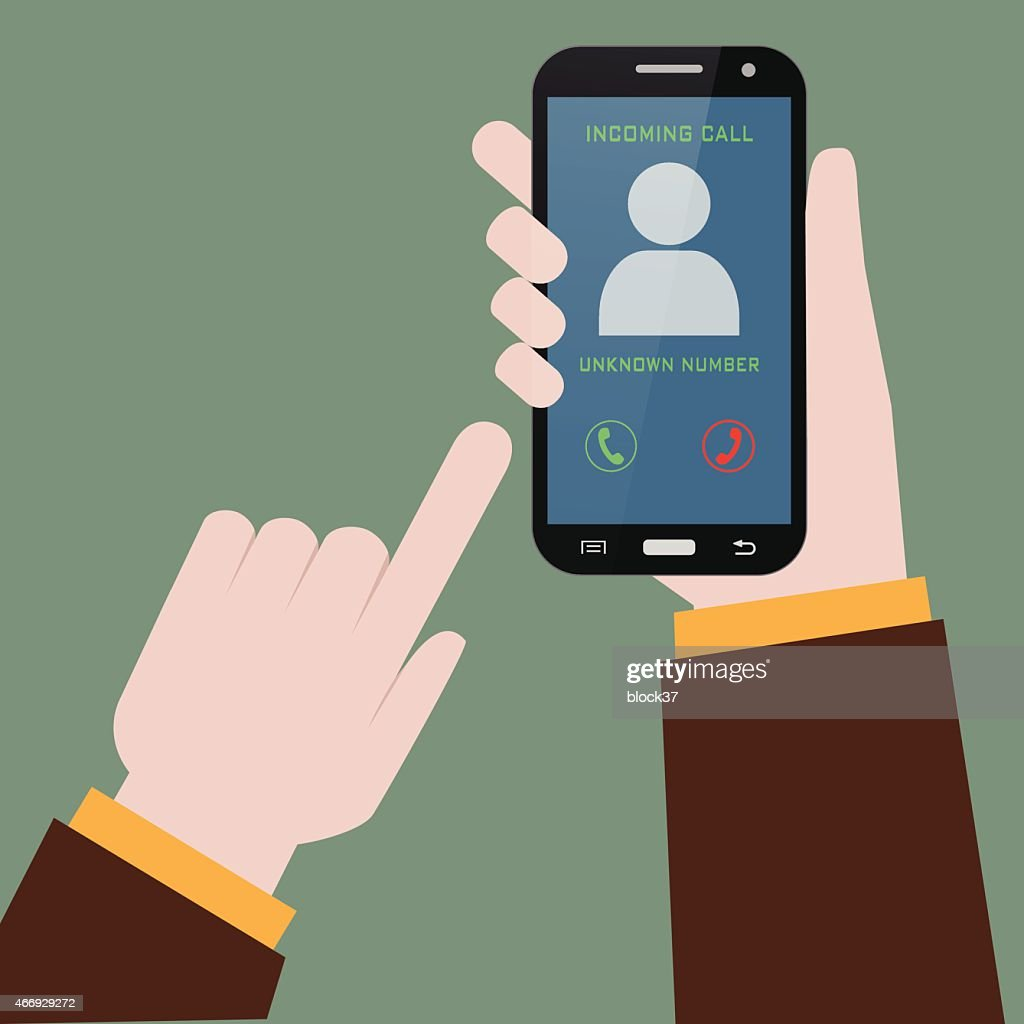 receiving phone call