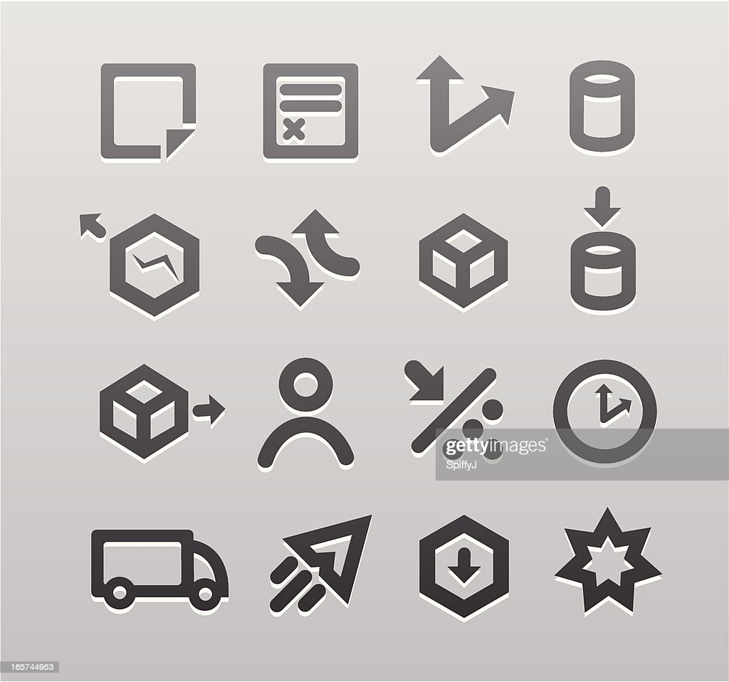 Recessed Shipping Icon Series