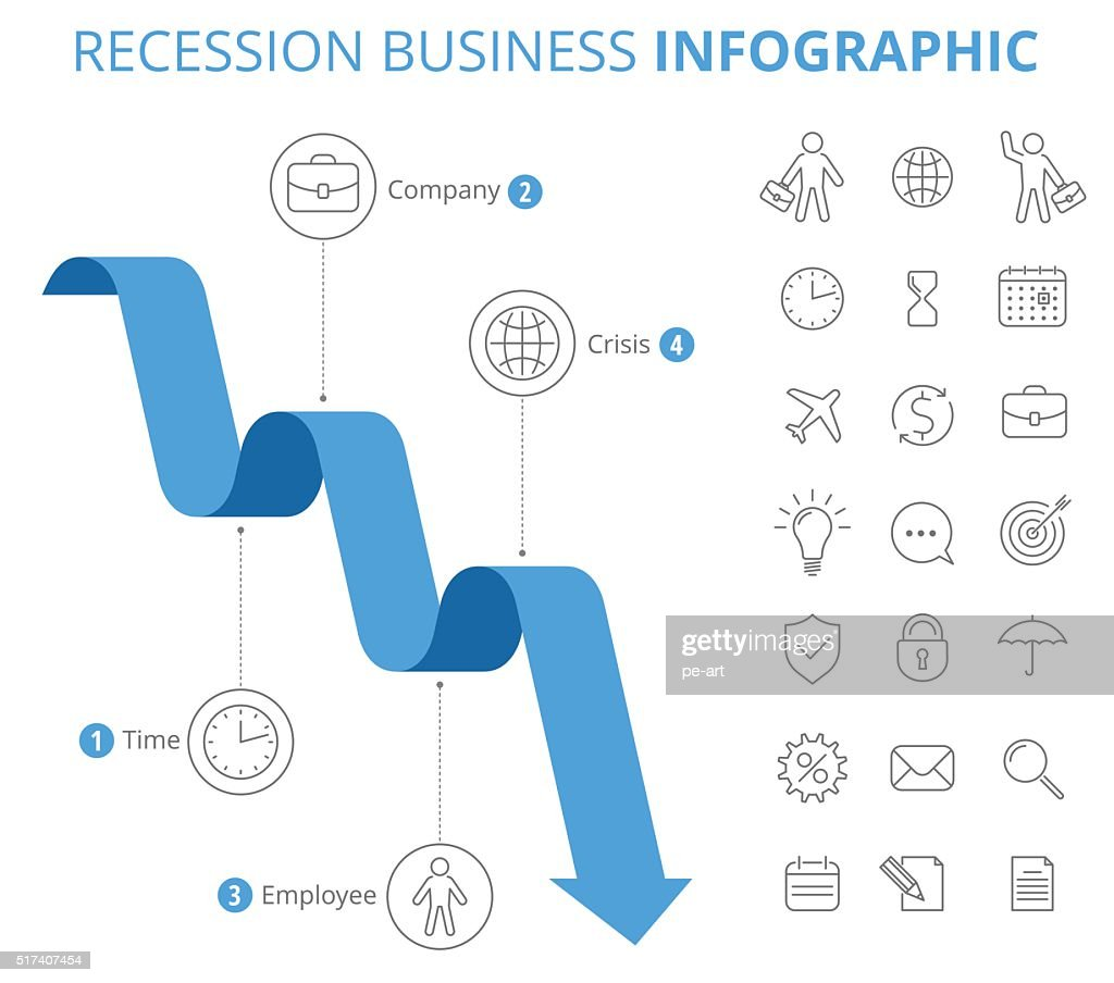 Recession Business Infographic Concept.