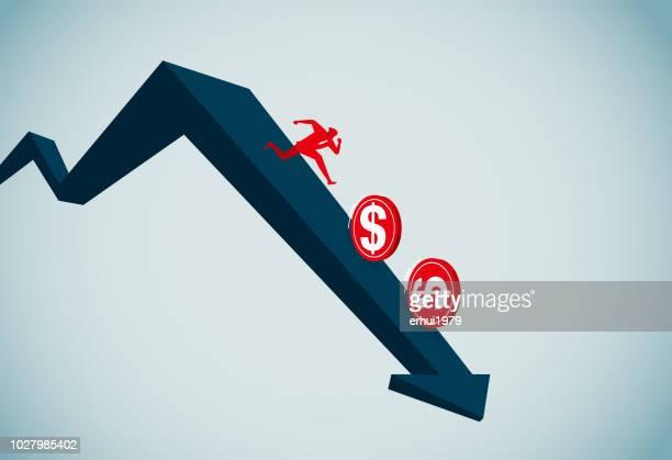 recession - deterioration stock illustrations