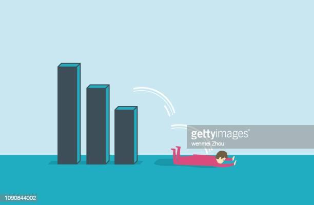 recession - defeat stock illustrations