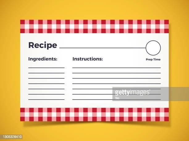 レシピ成分指示カード - インデックスカード点のイラスト素材/クリップアート素材/マンガ素材/アイコン素材