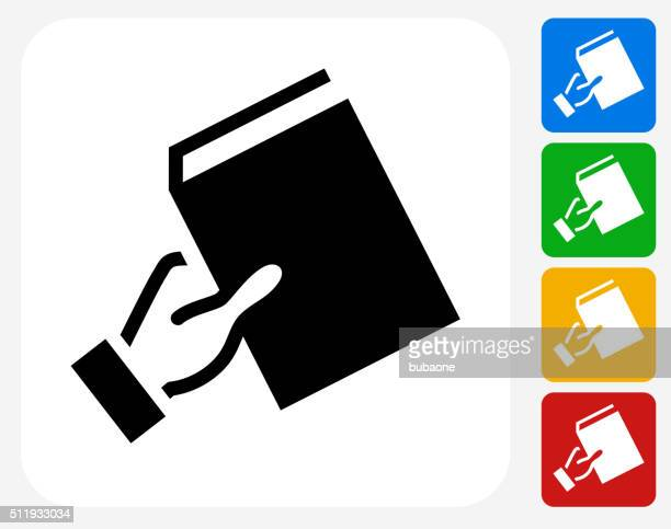 Recommending Book Icon Flat Graphic Design