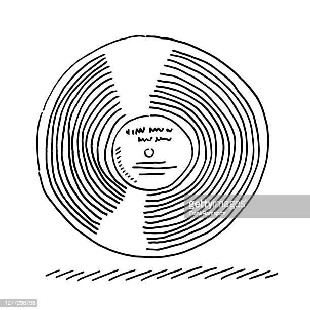 lpレコードアルバムドローイング - アナログレコード点のイラスト素材/クリップアート素材/マンガ素材/アイコン素材