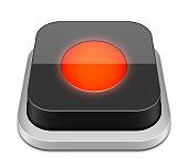 Record button icon, vector illustration