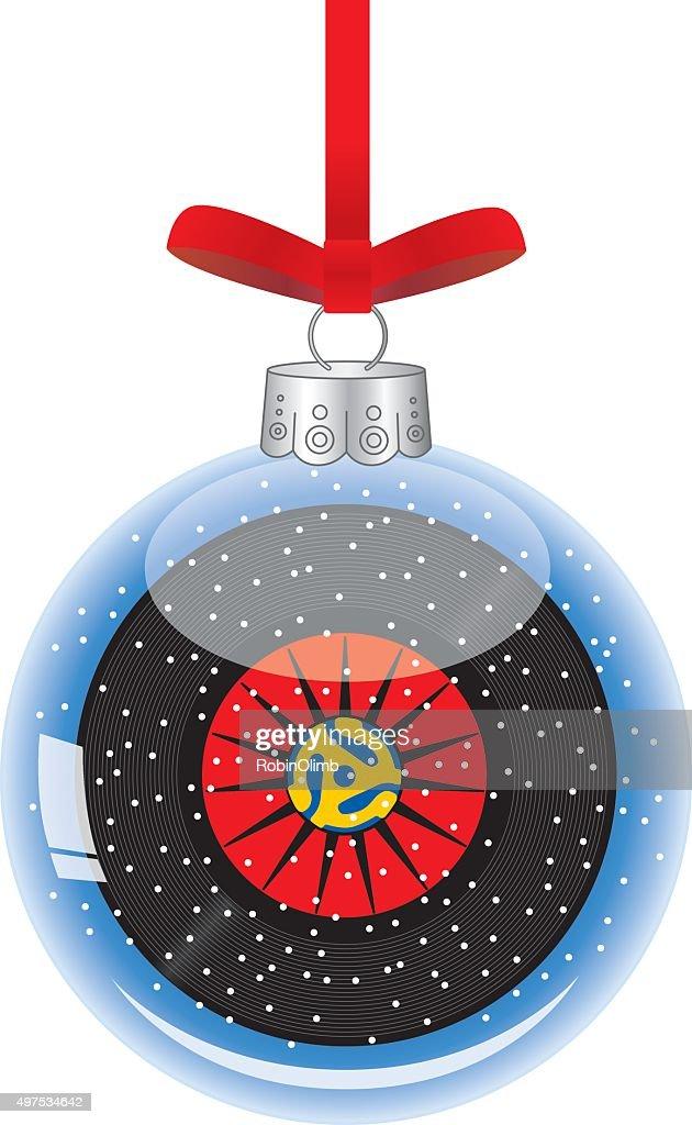 Record Christmas Ornament : stock illustration