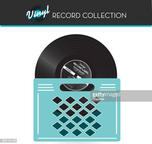 Record collection crate