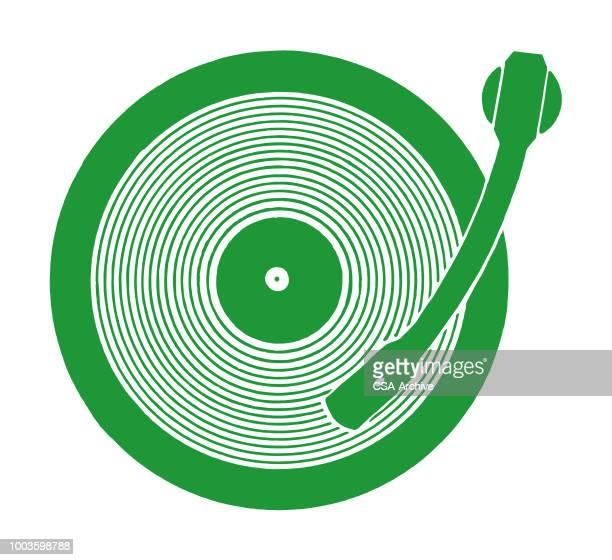 記録のプレーヤー - アナログレコード点のイラスト素材/クリップアート素材/マンガ素材/アイコン素材
