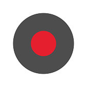 Record, rec button. Vector