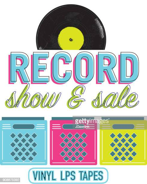 Record show icon design with text