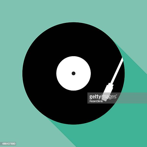 recordplayericon - gramophone stock illustrations, clip art, cartoons, & icons