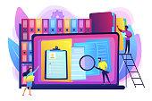 Records management concept vector illustration