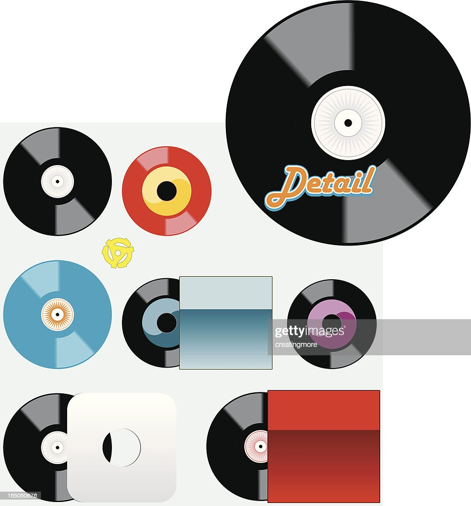 Records : stock illustration