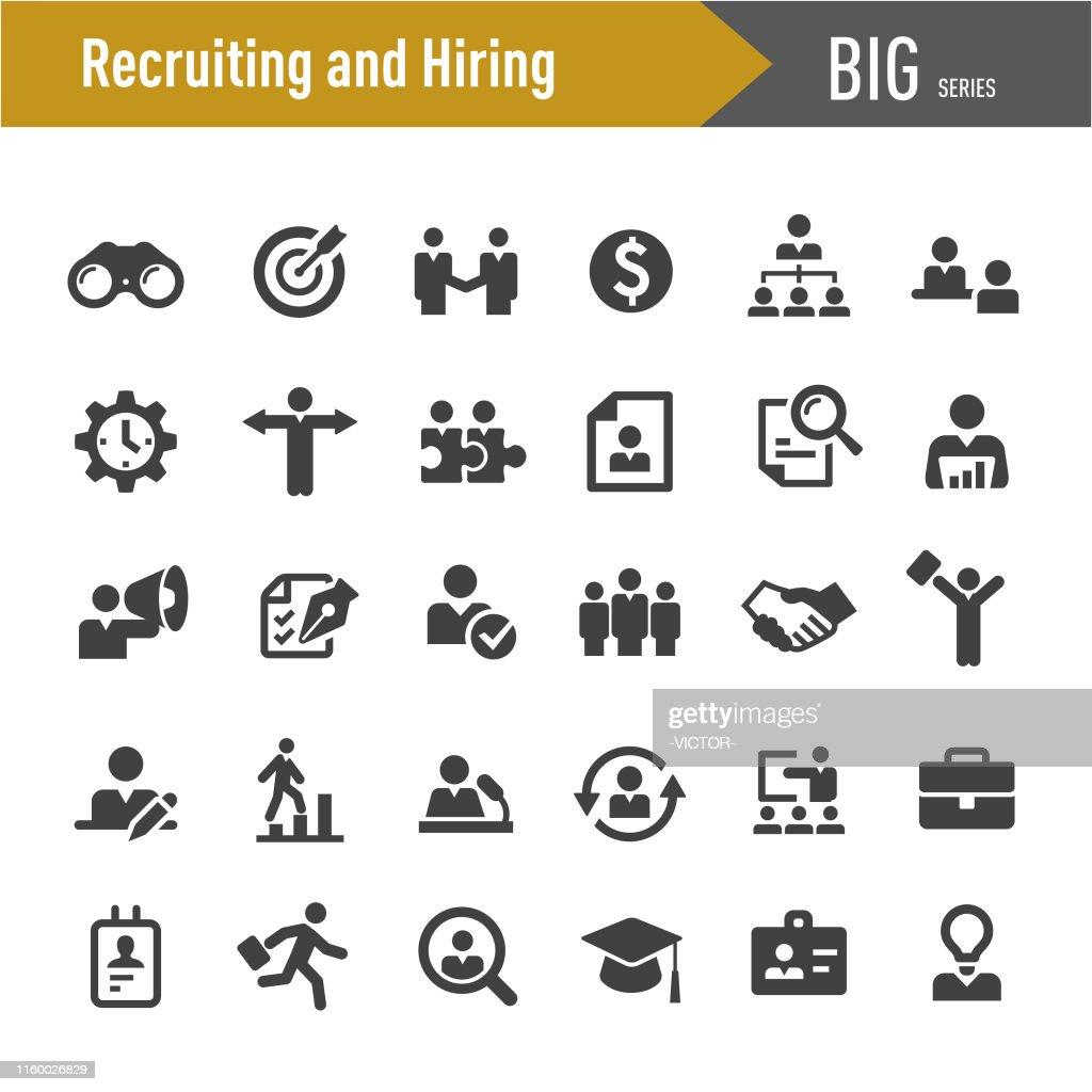 Rekrutierungs- und Einstellungssymbole - Big Series : Stock-Illustration