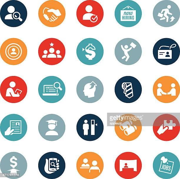 anwerben und einstellen symbole - suchen stock-grafiken, -clipart, -cartoons und -symbole
