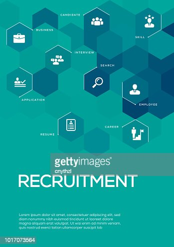 recruitment brochure template layout cover design vector art getty