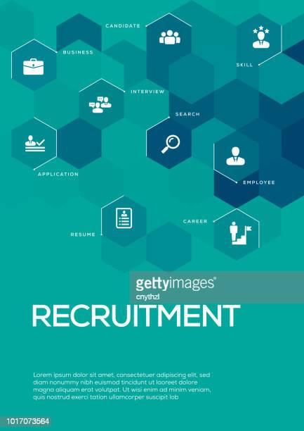 Recruitment. Brochure Template Layout, Cover Design