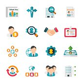 Recruitment & Job Set   Flat Design Icons