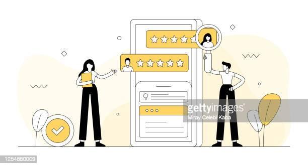 rekrutierung verwandte vektor-illustration. flaches modernes design - anwerbung stock-grafiken, -clipart, -cartoons und -symbole