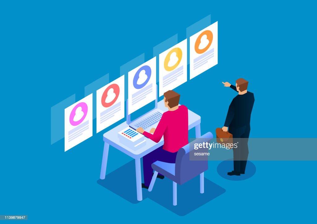Rekrutering, CV screening : Stockillustraties