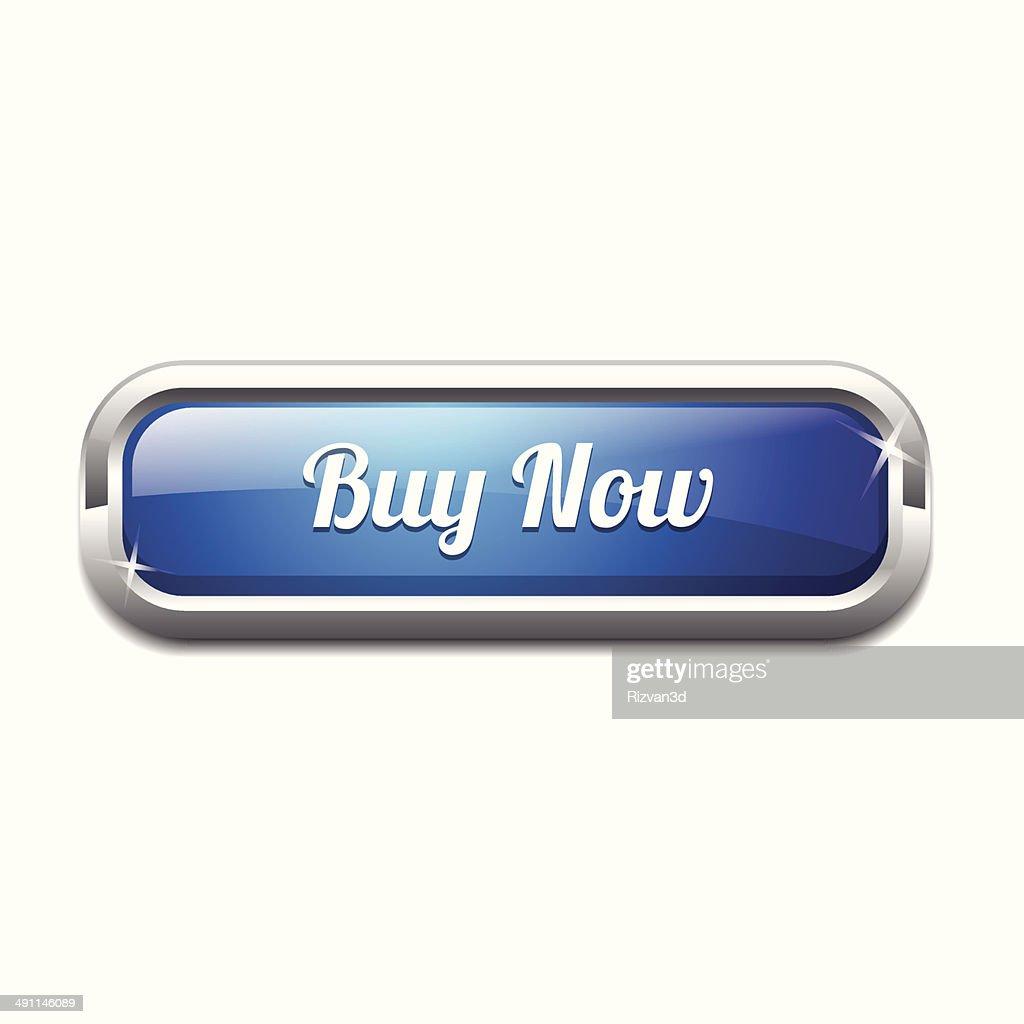 Rectangle Buy Now Button Vector Icon