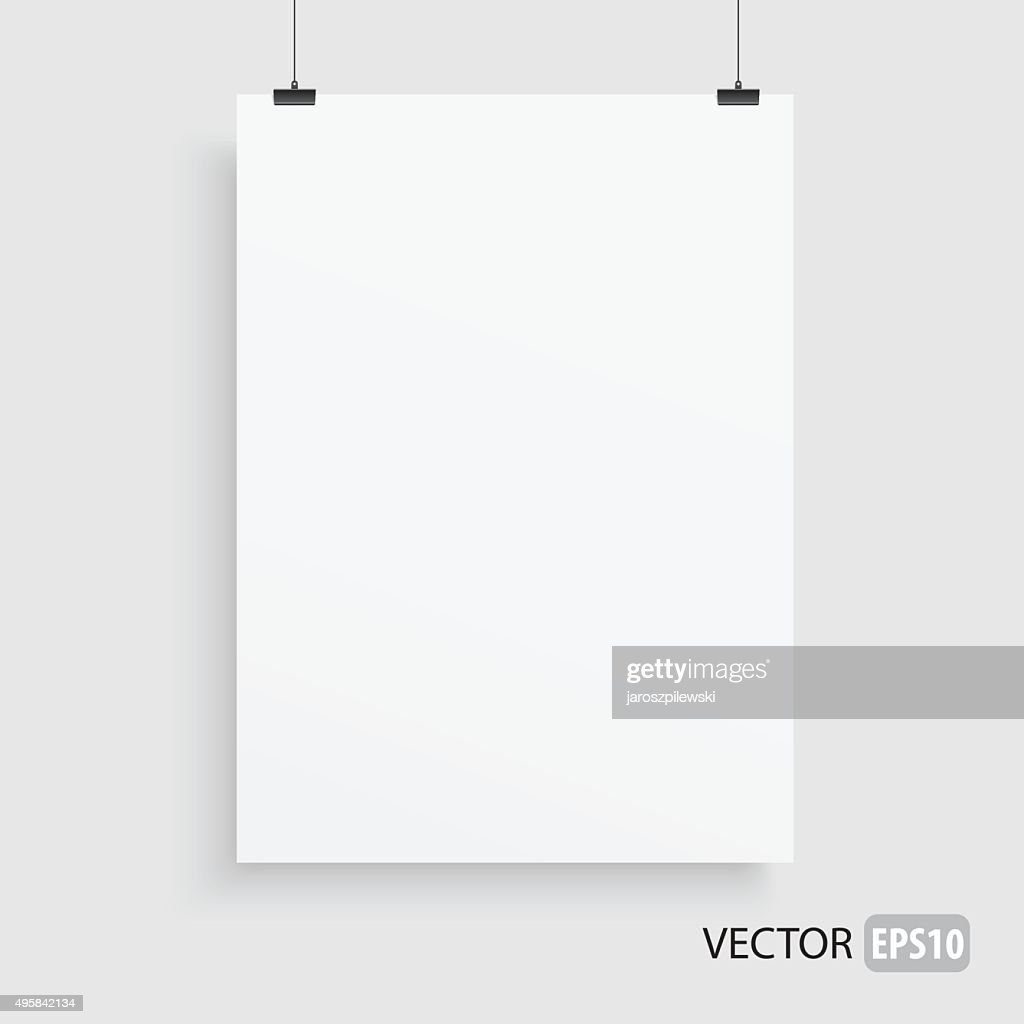 Rectangle white frame haning on two lines.