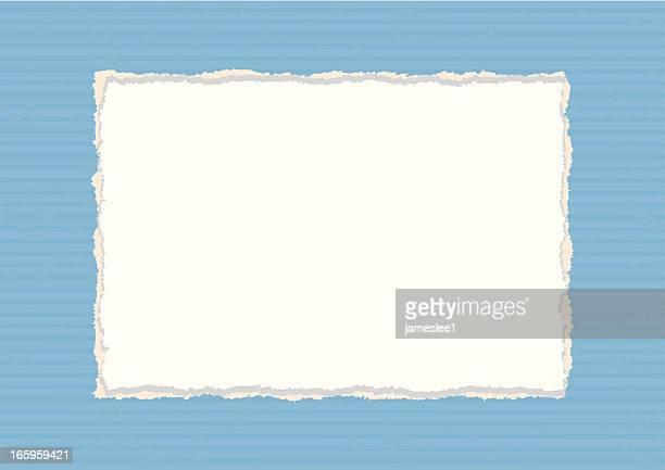 rectangular paper frame - cut or torn paper stock illustrations, clip art, cartoons, & icons