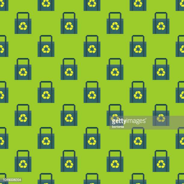 Recyclable Bag Environment Seamless Pattern