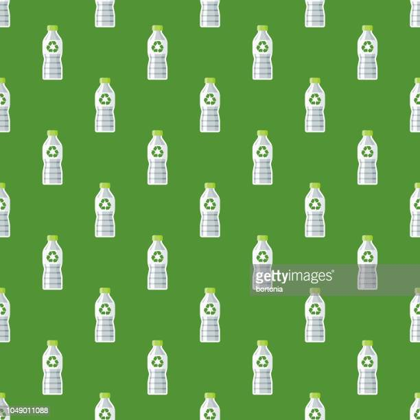 Recyclable Bottle Environment Seamless Pattern