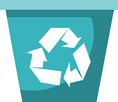 Recycle bin vector cartoon illustration