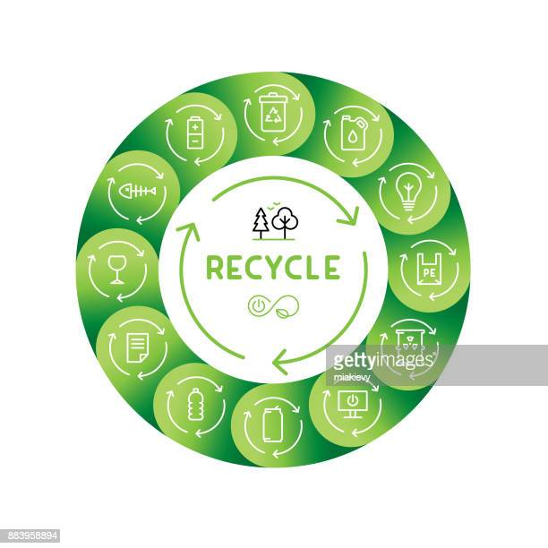 recycle concept - organic stock illustrations, clip art, cartoons, & icons