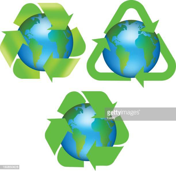 Recycle earth logos