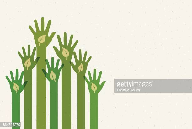 recycle hands - environnement stock illustrations, clip art, cartoons, & icons
