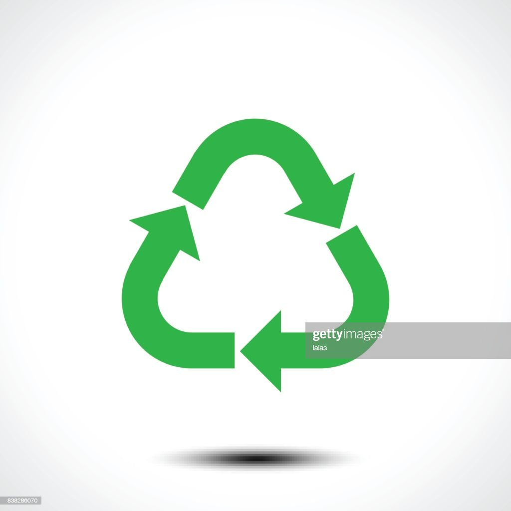 Recycle icon. Eco recycle sign symbol isolated on white background