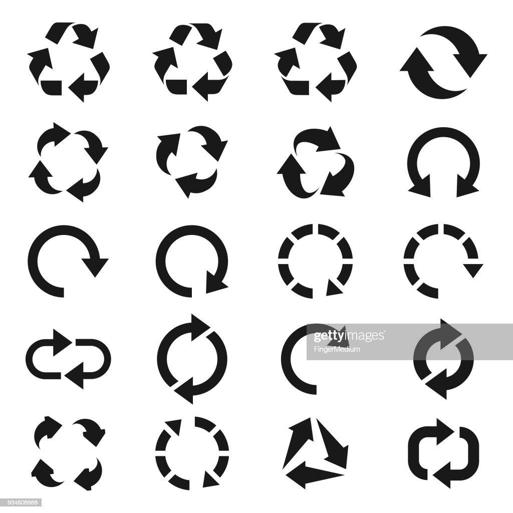 リサイクルアイコンセット : ストックイラストレーション
