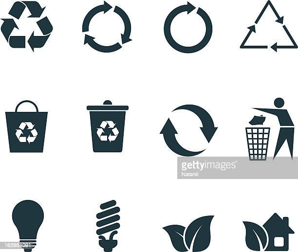 リサイクルアイコン - 再生利用点のイラスト素材/クリップアート素材/マンガ素材/アイコン素材