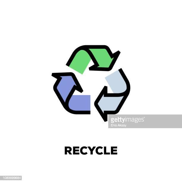 liniensymbol papierkorb - recyclingsymbol stock-grafiken, -clipart, -cartoons und -symbole