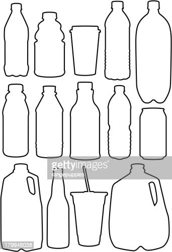 recycle outlines vector art