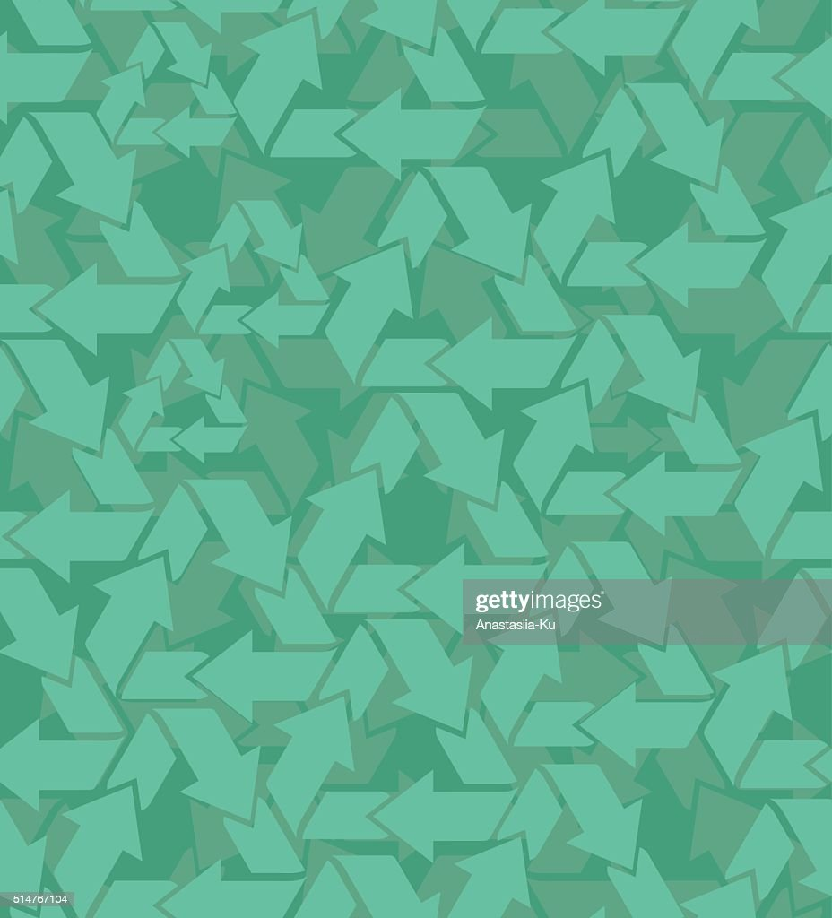 recycle sign seamless pattern
