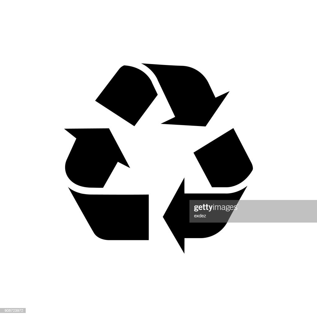 recycle sign vector art getty images