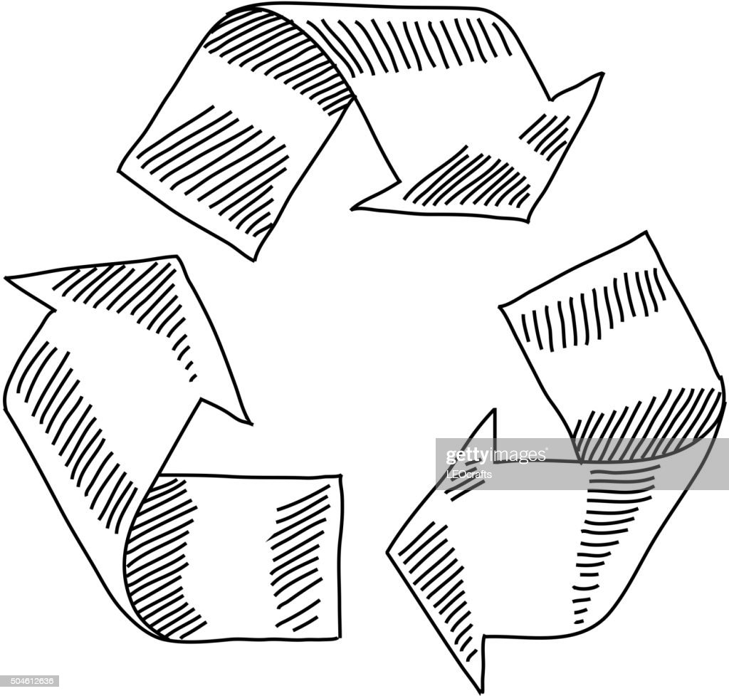 Recycle symbol drawing vector art getty images recycle symbol drawing vector art buycottarizona Choice Image