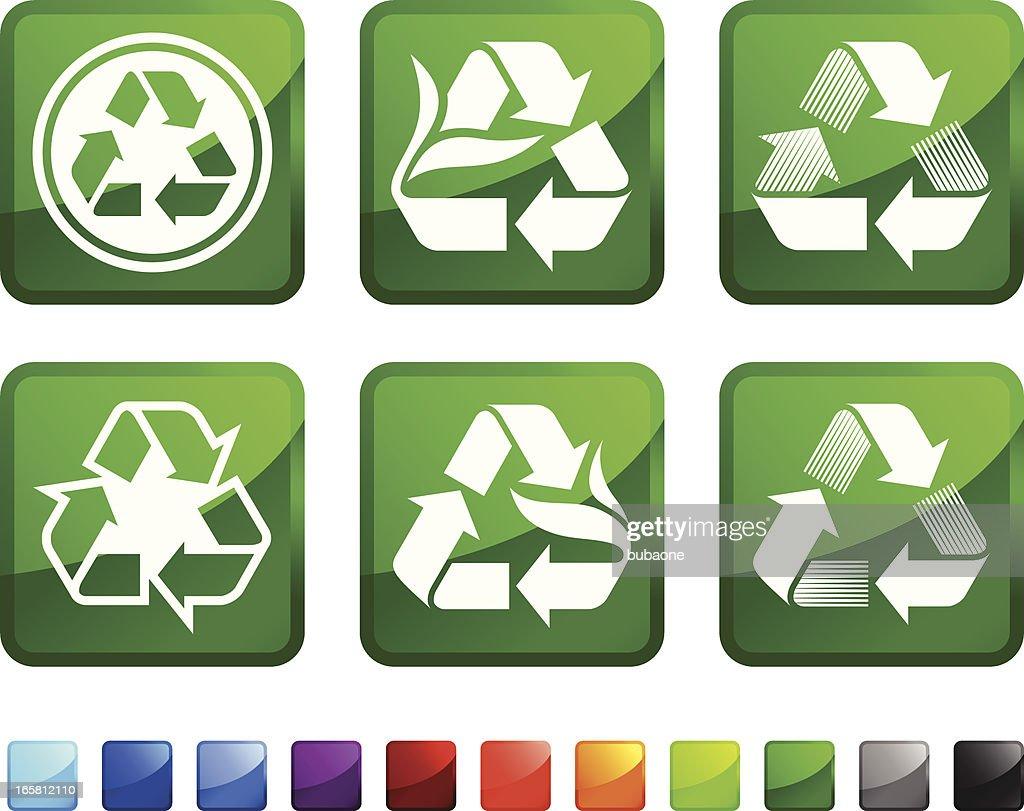 Recycle Symbol Royalty Free Vector Icon Set Stickers Vector Art