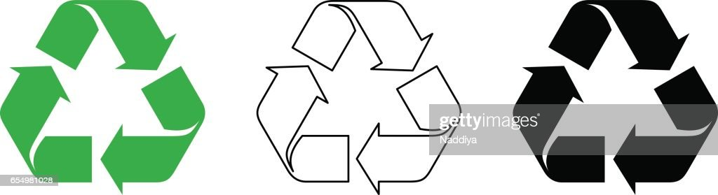Recycle symbols. Vector illustration.