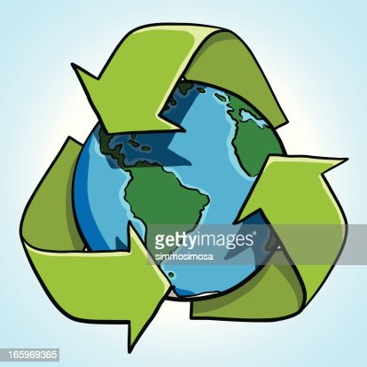 Earth Cartoon Recycle