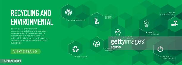 recycling and environmental banner design - natural condition stock illustrations